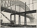 Dismantling the steelwork erection shed next to the Harbour Bridge, 1932 (8283770892).jpg
