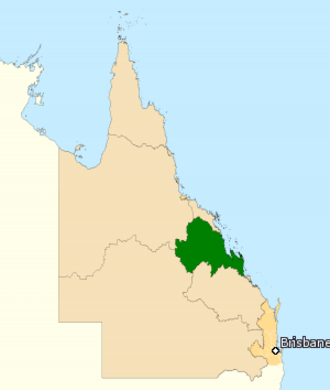 Division of Capricornia - Division of Capricornia in Queensland, as of the 2016 federal election.