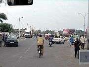 Typical street in the city of Djibouti, Djibouti, Africa. Winter, 2005.