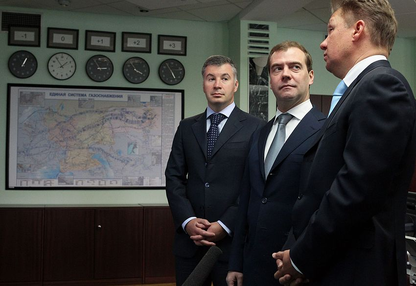 Dmitry Medvedev and Aleksey Miller 13 June 2012-1.jpeg