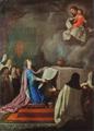 Doação da Basílica da Estrela a Nossa Senhora por D. Maria I (c. 1778) - Joaquim Manuel da Rocha (Museu do Patriarcado de Lisboa).png