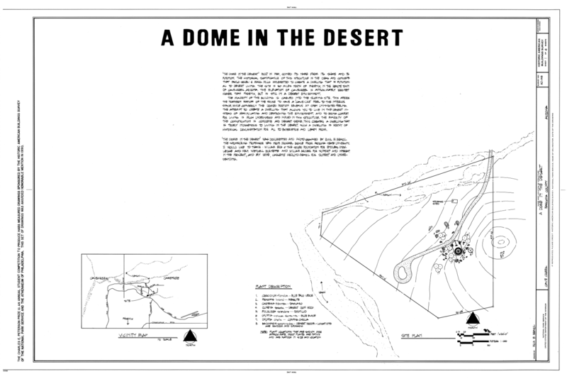 File:Dome in the Desert, Grapevine Road, Cave Creek, Maricopa County, AZ HABS ARIZ,7-CACR,1- (sheet 1 of 4).png