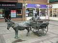 Donkey Cart Sculpture, Piries Place, Horsham - geograph.org.uk - 809270.jpg