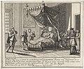 Dood van Lodewijk I Op den 31 Aug. 1724 is Louis de eerste Koning van Spanjen, in het Eerste Iaar van zyn regeeringe aan de kinder-pokken overleeden, zynde geboren in het Iaar 1707, op den 28 Augustus (titel op object), RP-P-1907-2123.jpg
