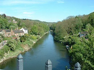 Ironbridge Gorge - Image: Downstream from the ironbridge geograph.org.uk 267024
