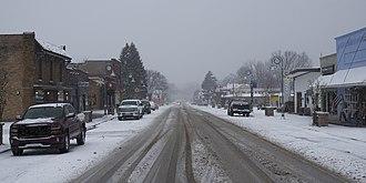 Bridgman, Michigan - Downtown Bridgman in December 2017