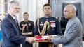 Dr Marjan Cencen with President of India, Shri Ram Nath Kovind.png