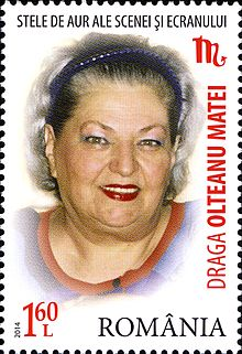 Draga Olteanu Matei 2014 Romania stamp.jpg