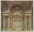 Drawing, Stage Design, Interior of Papal Palace, 1777 (CH 18357025).jpg