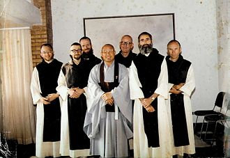 Seungsahn - Seungsahn with monks from the Abbey of Our Lady of Gethsemani