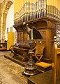 Dublin Cornmarket St. Audoen's Church North Nave Eagle Lectern and Organ 2012 09 28.jpg