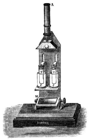 Jules Duboscq - Image: Duboscq colorimeter 1870