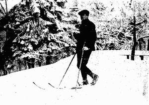 Dušan Zinaja - Zinaja during skiing competition (1922) in Zakopane, Poland.