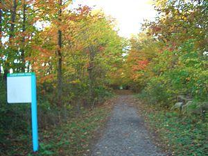 English: Clear Creek Trail, a running/biking t...