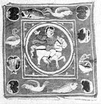 EB1911 Tapestry - Egypto-Roman - child mounted on a white horse.jpg