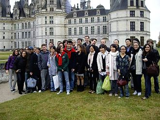 ESSEC Business School - Trip to the Loire valley and visit of Chambord Chateau with international Master students, organized by Melt and Polo Marco