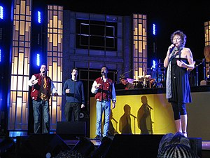 Doo-wop - Kathy Young with The Earth Angels performing Kathy's hit A Thousand Stars during the festival of this genre celebrated at the Benedum Center for the performing arts in Pittsburgh, Pennsylvania, in May 2010