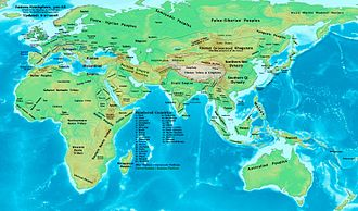 5th century - Eastern Hemisphere at the end of the 5th century AD.