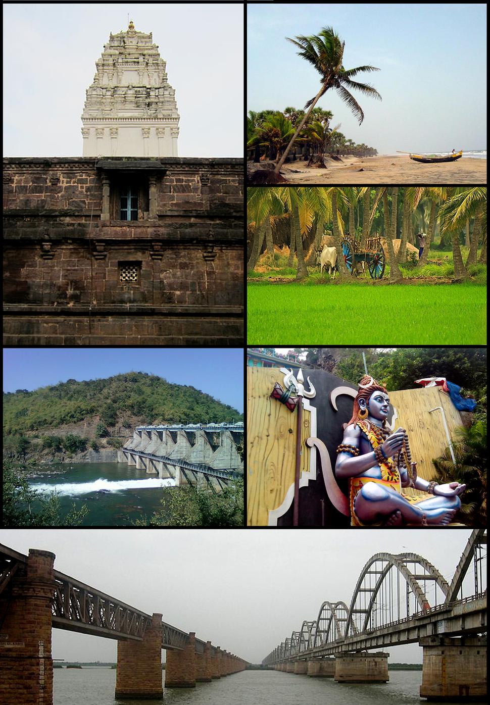 East Godavari district Montage