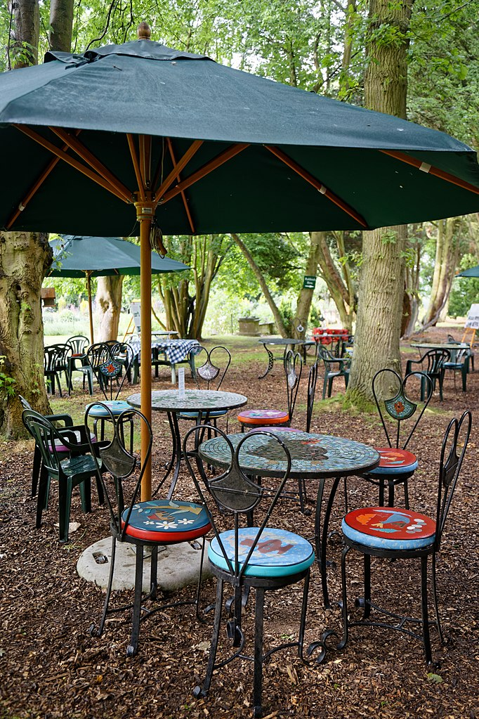 File:Easton Lodge Gardens, Little Easton, Essex, England ~ Outdoor Café  Furniture