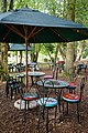 Easton Lodge Gardens, Little Easton, Essex, England ~ outdoor café furniture.jpg
