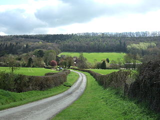 Eaton-under-Heywood village in the United Kingdom