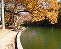 Echo Lake park NJ view of water and trees in early autumn.JPG