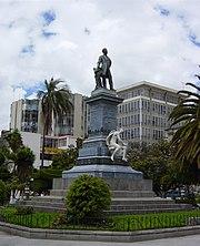 Monument of Juan Montalvo in Ambato, Ecuador