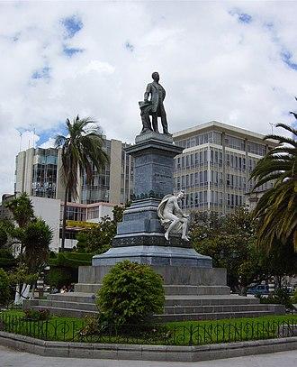 Ambato, Ecuador - Monument of Juan Montalvo in Ambato, Ecuador