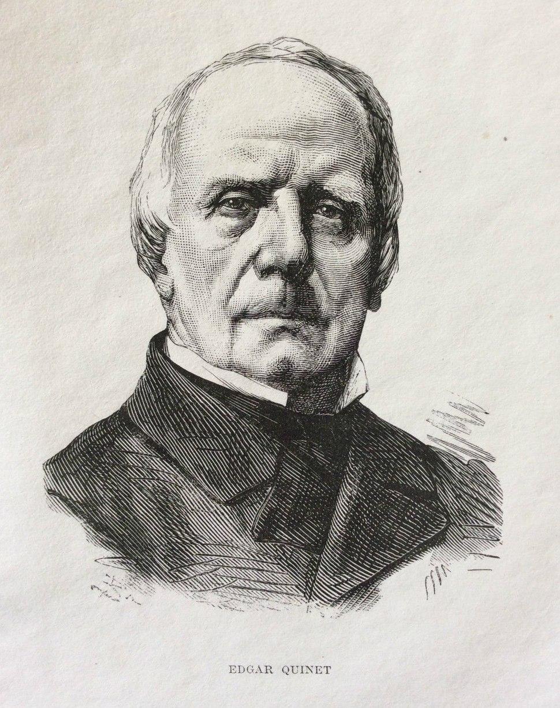 Edgar Quinet - gravure sur acier