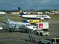 Edinburgh Airport Flybe and Ryanair aircraft.jpg