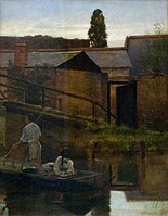 Edward Henry Fahey 1871 Canotage sur l'Arun.jpg