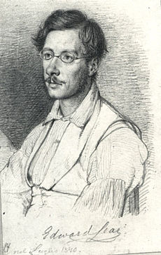 sketch of a young man with spectacles and a moustache
