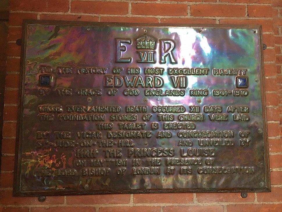 Edward VII memorial in St Jude's Church, Hampstead Garden Suburb