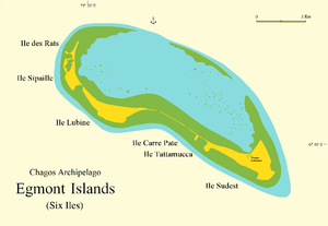 Egmont Islands - Map of Egmont Islands or Six Iles