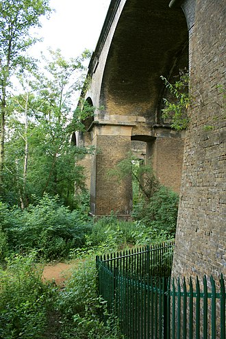 Wharncliffe Viaduct - Note the Egyptian styled columns