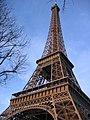 Eiffel tower, extreme angle, 2003.jpg