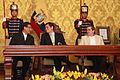 El presidente Correa condecora al Embajador de Bolivia (6887973481).jpg