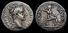 Denar des Kaisers Tiberius