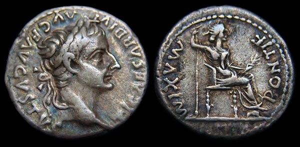 Emperor Tiberius Denarius - Tribute Penny