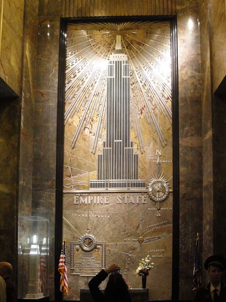 file empire state building lobby wikipedia. Black Bedroom Furniture Sets. Home Design Ideas