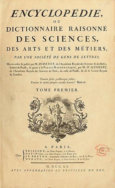 Archivo:Encyclopedie de D'Alembert et Diderot - Premiere Page - ENC 1-NA5.jpg
