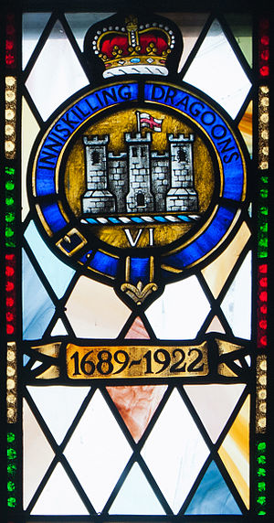 6th (Inniskilling) Dragoons - Memorial window at St Macartin's Cathedral, Enniskillen