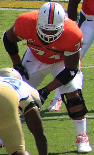 Ereck Flowers - Flowers while attending  Miami in 2012