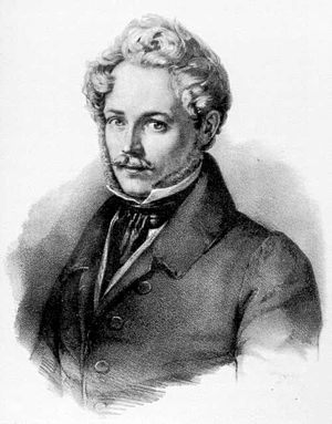 Ernst Fries - Self-portrait c. 1830; Lithograph by Franz Seraph Hanfstaengl