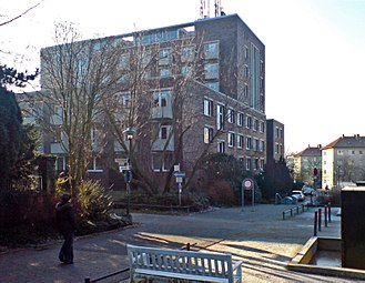 Ernst-Neufert-Haus - The building from the northeast.