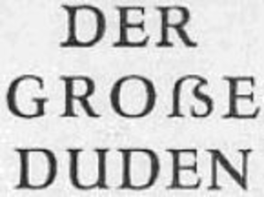 Duden - Image: Eszett Leipziger Duden 1957