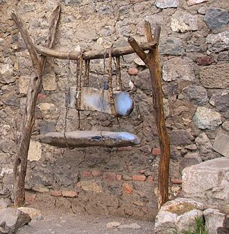 Lithophone - Image: Ethiopian Lithophones with Stand, Monastery of Na'akuto La'ab (3425530734)
