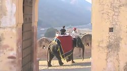 ファイル:Exciting Elephant Ride in Jaipur at Amer Fort.webm