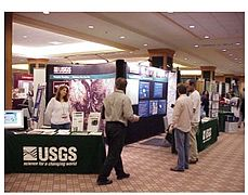 Exhibit hall at the AAG Annual Meetings..jpg